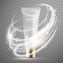 Luxury cosmetic Bottle package skin care cream, Beauty cosmetic product poster, with background
