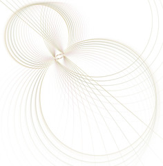 Illuminated curved lines. Glowing particles and wireframe. Futuristic illustration Technology digital vortex or swirl background. Abstract spirograph element. Fractal graphics.