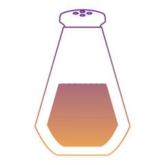 salt bottle icon over white background, vector illustration