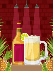 best drink with cup alcoholic vector illustration design