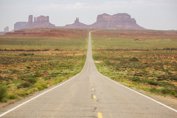 Forest Gump Point and entrance to Monument Valley Navajo Tribal Park, USA