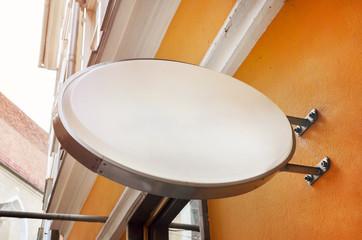 Oval shape bar signage mockup