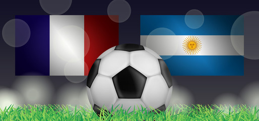 Fußball 2018 - Achtelfinale (Frankreich vs Argentinien)
