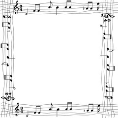 Marco de fotos notas musicales