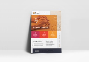 Red, Orange, and Yellow Business Flyer Layout