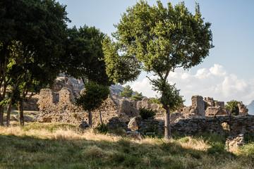 Ruins of the Ancient Roman City Anemurium in Anamur, Turkey