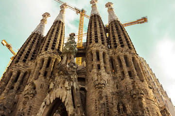 Beautiful Sagrada Familia Church in Barcelona.