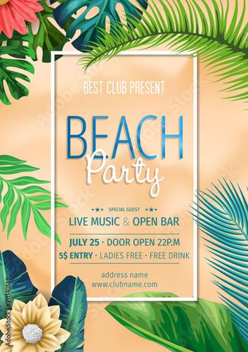 summer party invitation template invitation beach party invitation