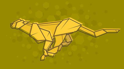 Vector abstract illustration Cheetah.