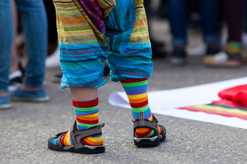 rainbow symbol at pride parade