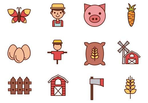 16 Farm Icons