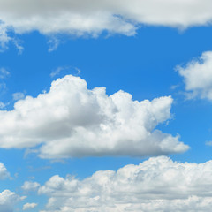 Clouds in the blue sky, natural background