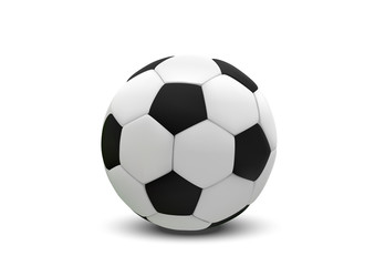 Realistic soccer ball or football ball on white background. 3d Style vector Ball isolated on white background