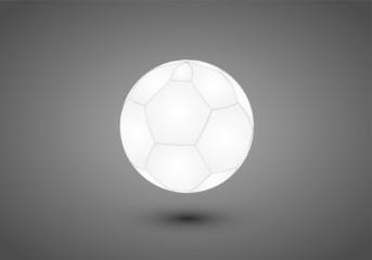 A white soccer ball for football match vector illustration