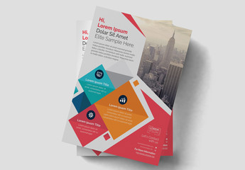 Colorful Geometric Flyer Layout