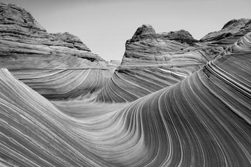Foto op Canvas Donkergrijs Black and white desert landscape, Arizona, USA.