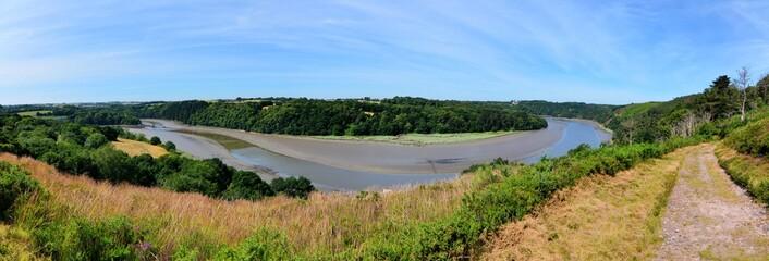 Vue panoramique sur la vallée du Trieux en Bretagne