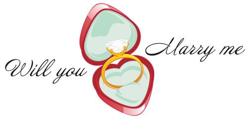 ring, stone, diamond, engagement ring, symbol, marriage, wedding, marry me, jewel, illustration, cartoon, heart, words