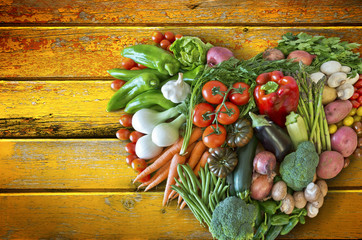 Gemüse Herz