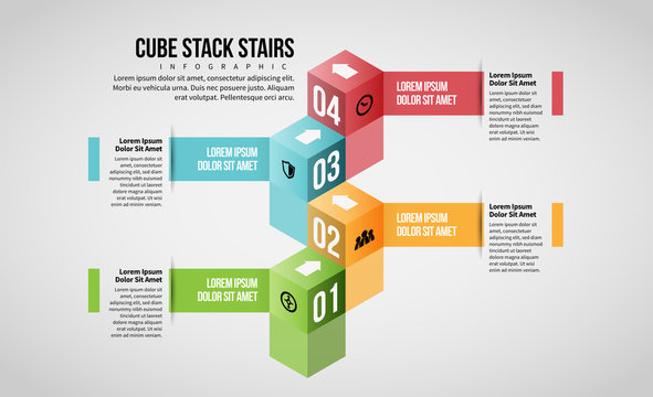Cube Stack Stairs Infographic