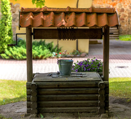 Old draw well in countryside, EC, Europe