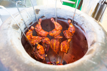 Malaysian tandoori chicken in oven