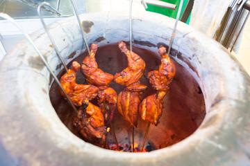Malaysian tandoori chicken in oven