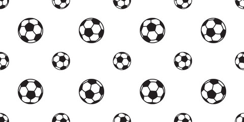 soccer ball seamless pattern football vector background tile isolated sport wallpaper