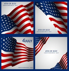Independence Day of the USA Vector Background. Fourth of July Illustration. Banner, Greeting Card, Invitation or Holiday Poster.