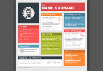 Resume with Square Layout