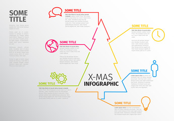 Infographic Layout with Colorful Tree Outline