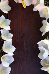 White flowers sharped table