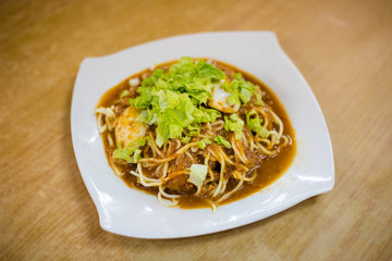 Malaysian Mee Rojak fried noodles