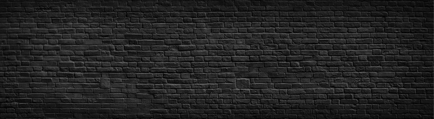 Printed roller blinds Brick wall Black brick wall background.