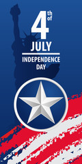 Fourth of july independence day of the usa. EPS10 vector background.