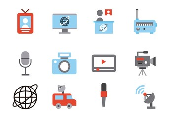 20 Colorful News Icons