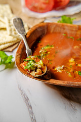 Manhattan Clam Chowder Soup