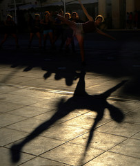 Dancers rehearse for the official opening of the Malta International Arts Festival in Valletta