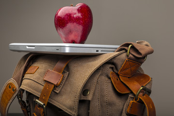 Back to school background with apple