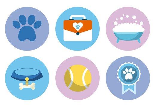 9 Colorful Pet Shop Icons