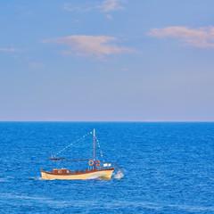 Motor Boat in the Sea