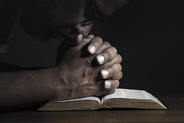 Man praying to God on a Bible Wall mural