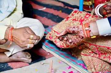 Hindu wedding ceremony. Details of traditional indian wedding