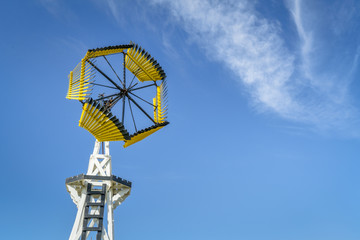Antique windmill for water pumping