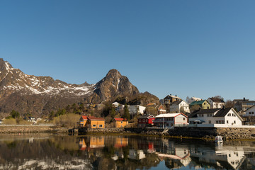 The fishing harbour of Svolvaer at Lofoten Islands / Norway