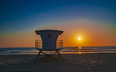 Lifeguard Tower in Pacific Beach, San Diego