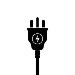 UK Electric Plug icon, symbol. United Kingdom, Great Britain standart. lightning sign