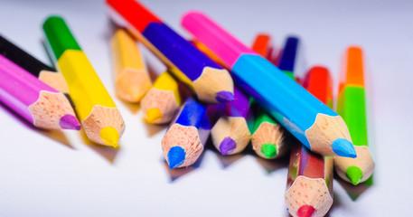 Crayon, color pencil, color background