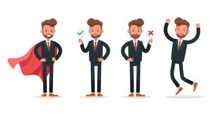 Set of Businessman character vector design. no6