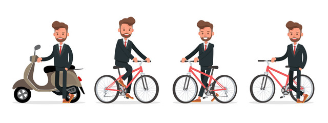 Set of Businessman character vector design. no14